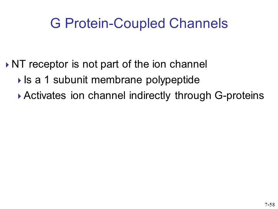 G Protein-Coupled Channels