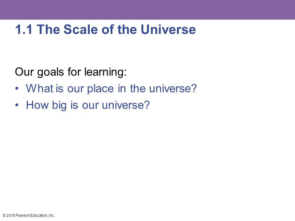1.1 The Scale of the Universe