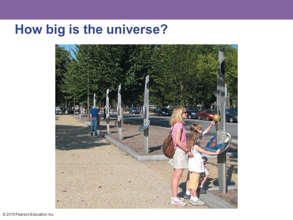 How big is the universe © 2015 Pearson Education, Inc.