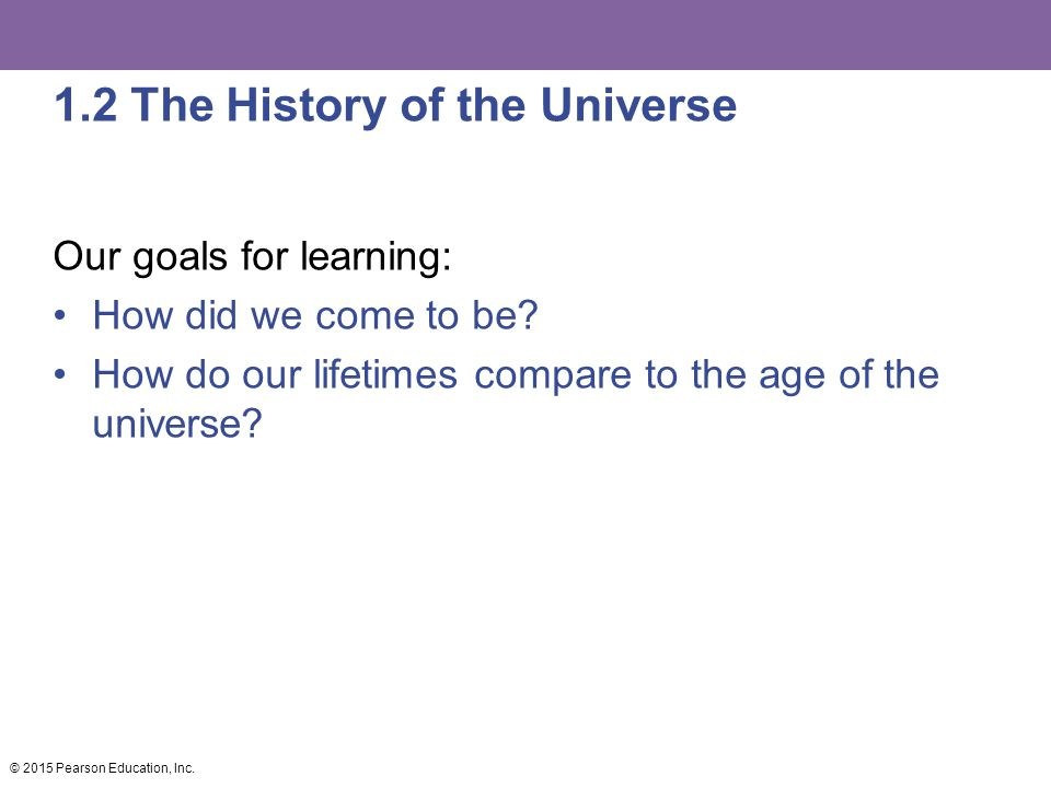 1.2 The History of the Universe