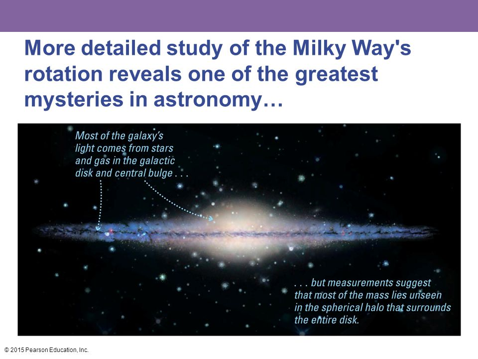 More detailed study of the Milky Way s rotation reveals one of the greatest mysteries in astronomy…