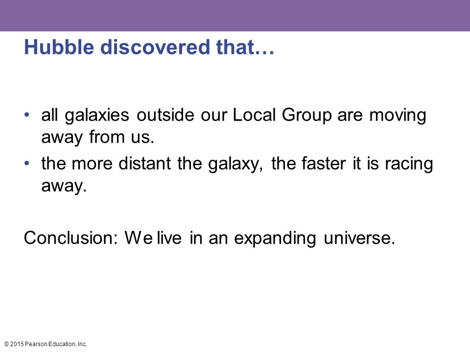 Hubble discovered that…
