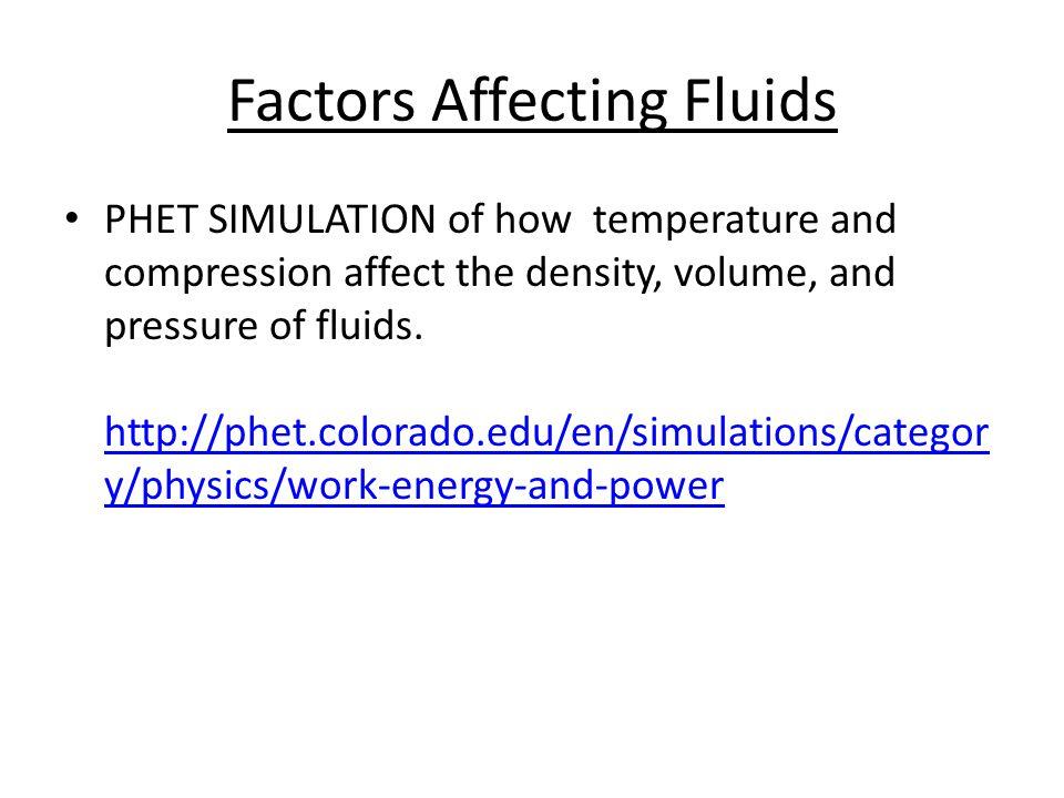 Factors Affecting Fluids