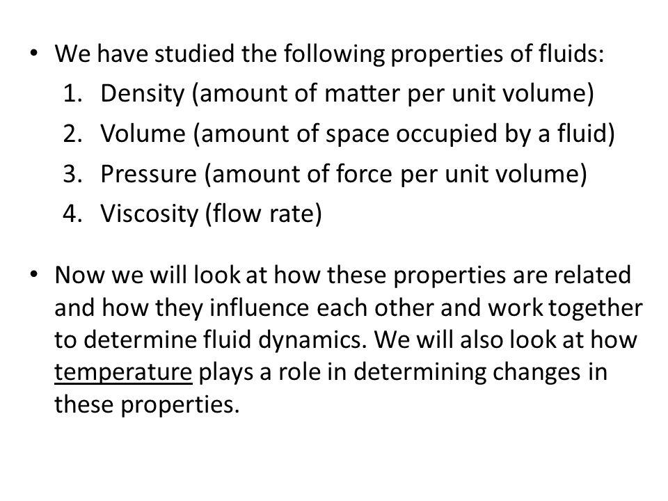 Density (amount of matter per unit volume)