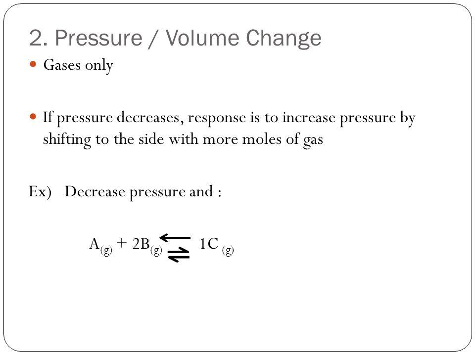 2. Pressure / Volume Change