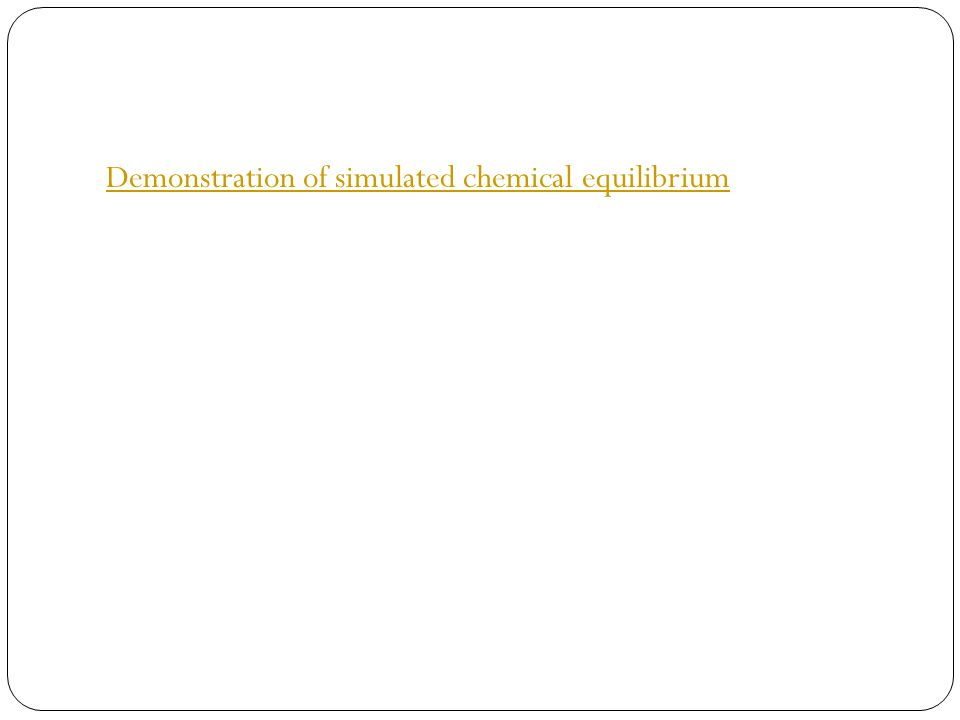 Demonstration of simulated chemical equilibrium