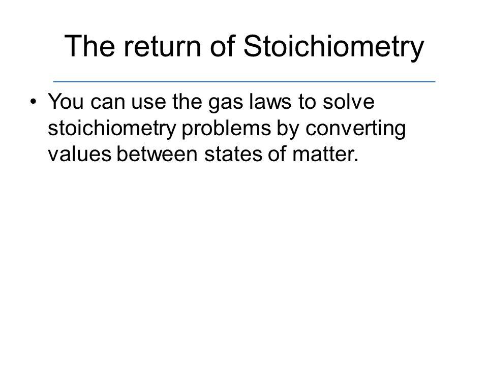 The return of Stoichiometry