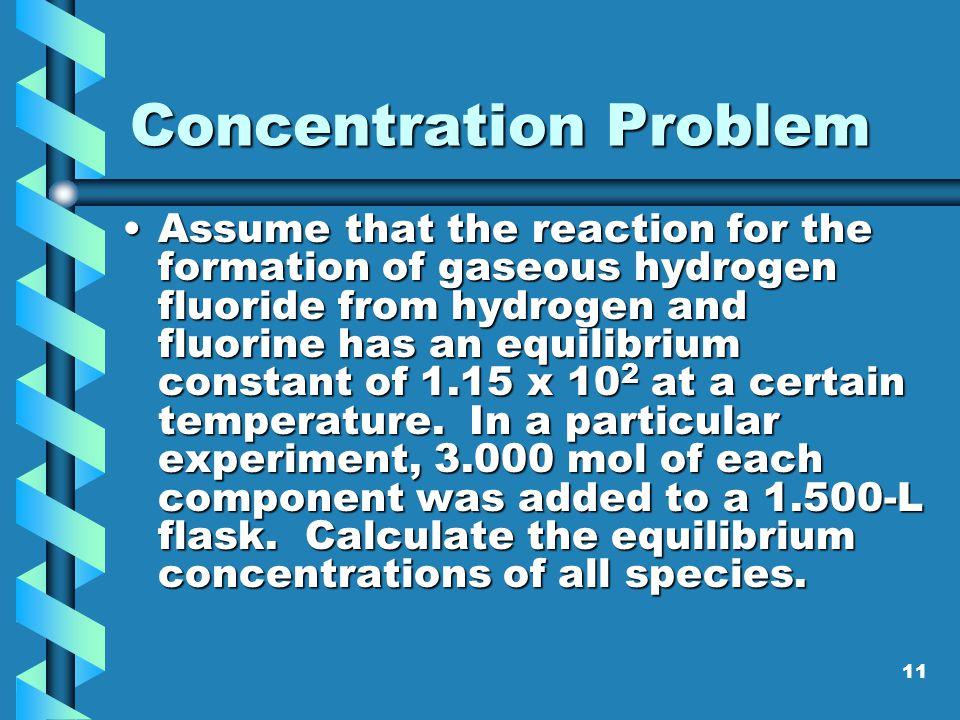 Concentration Problem