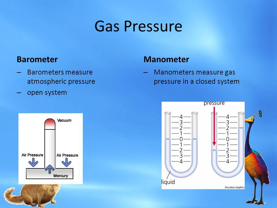 Gas Pressure Barometer Manometer