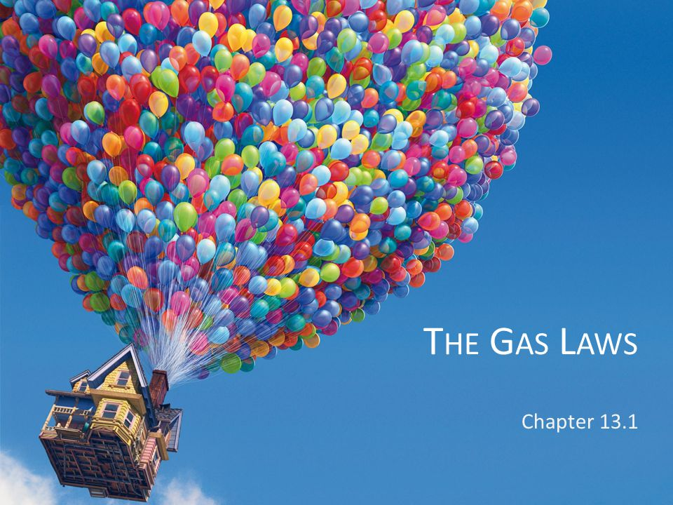 The Gas Laws Chapter 13.1