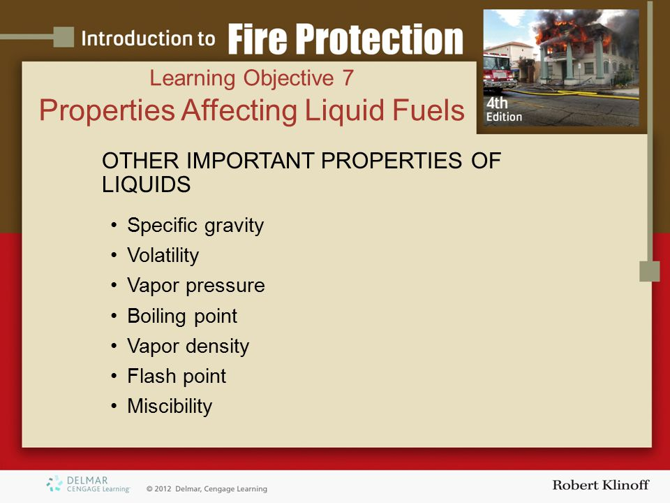 Properties Affecting Liquid Fuels
