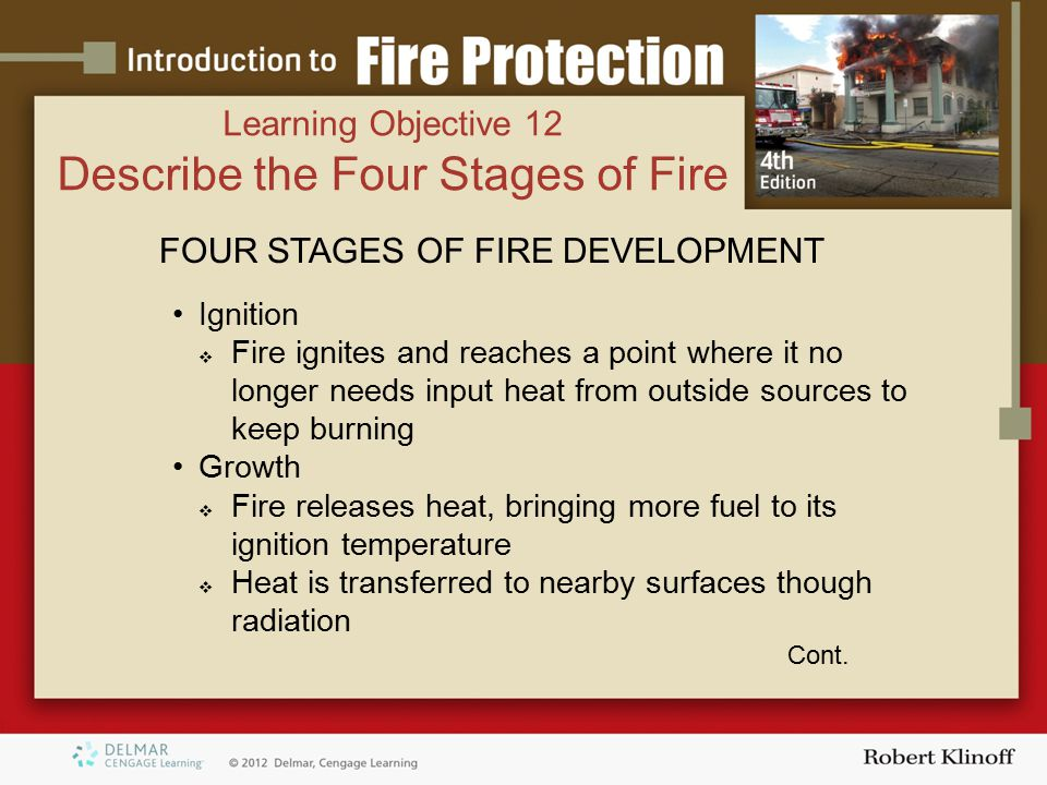 Describe the Four Stages of Fire