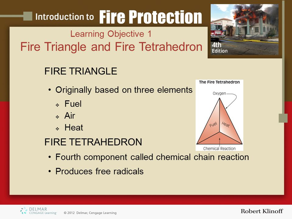 Fire Triangle and Fire Tetrahedron