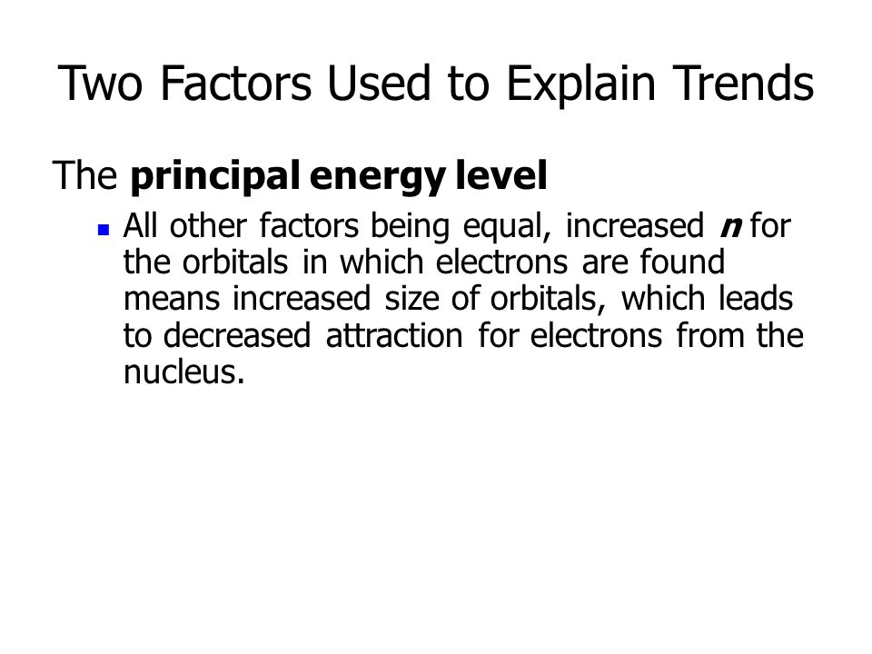 Two Factors Used to Explain Trends