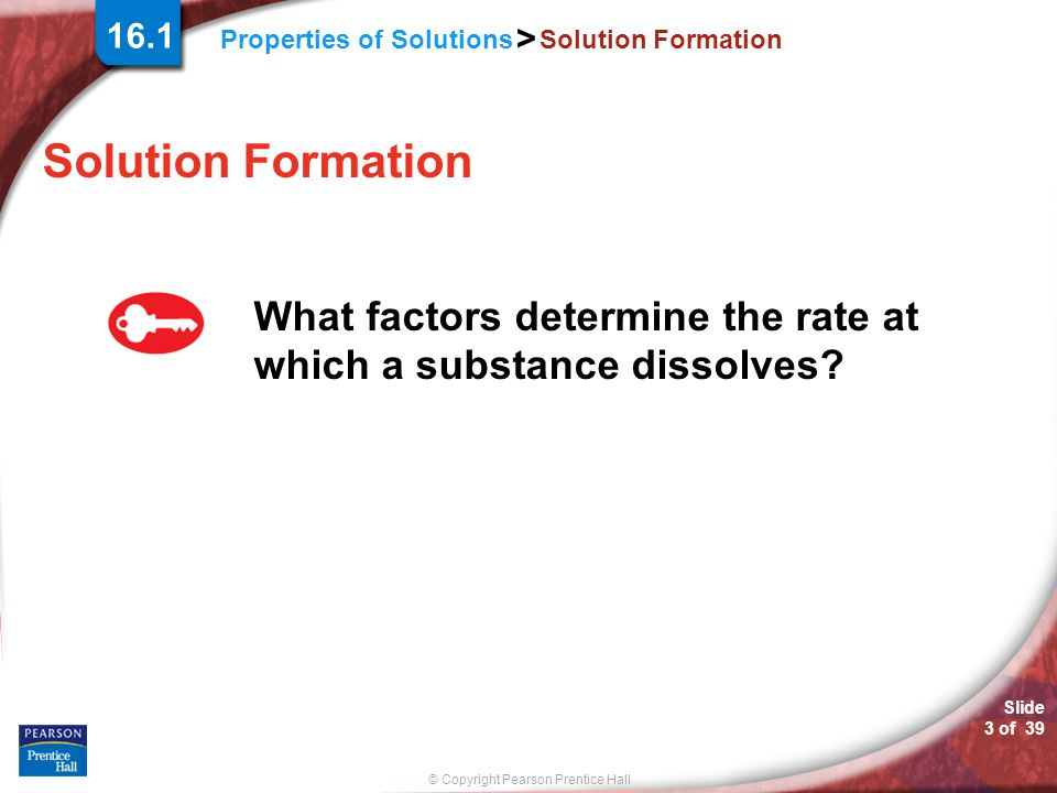 16.1 Solution Formation. Solution Formation.