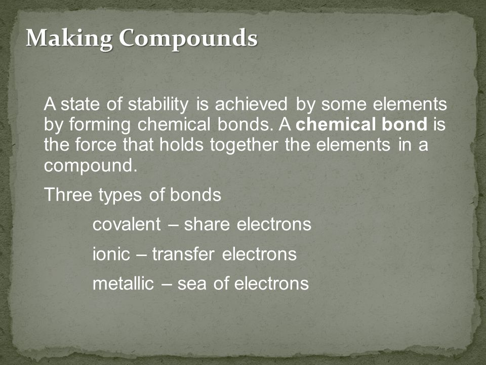 Making Compounds