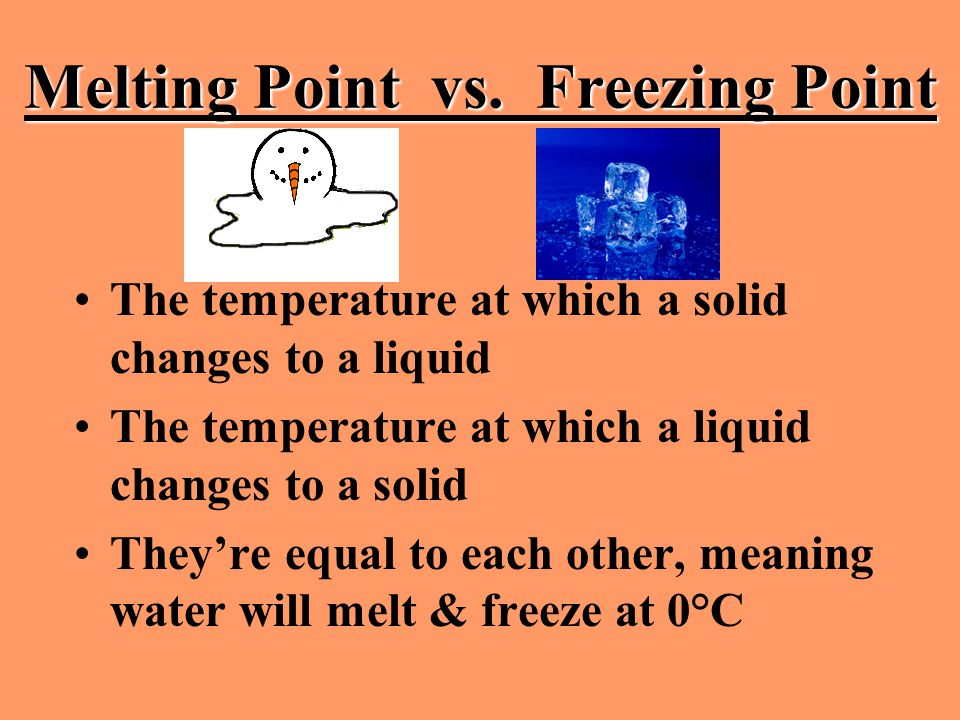 Melting Point vs. Freezing Point