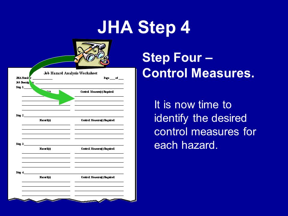 JHA Step 4 Step Four – Control Measures.