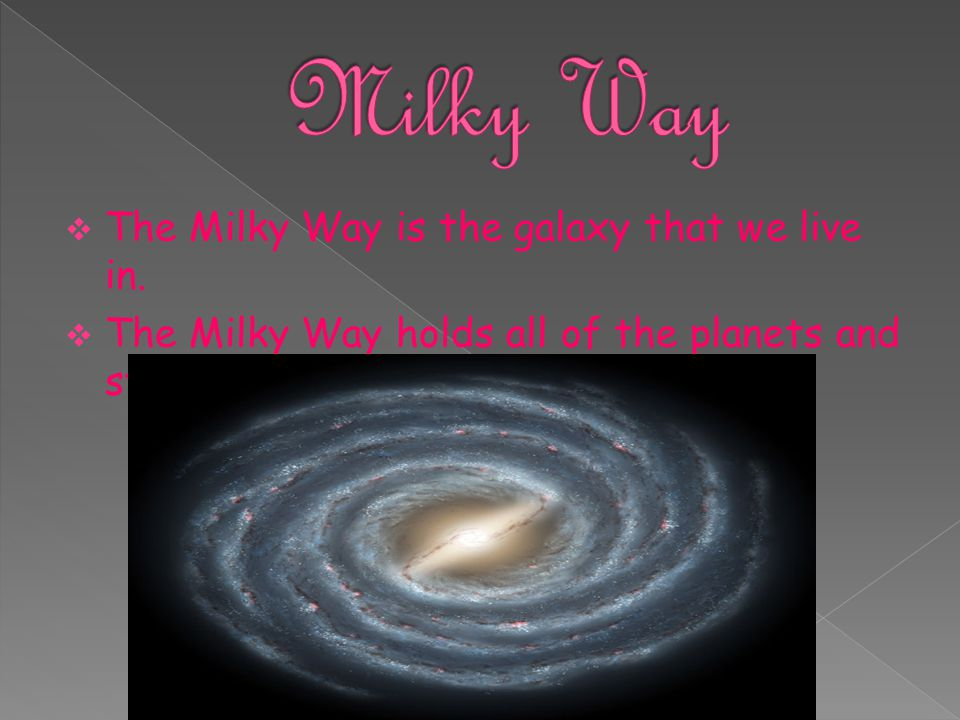 Milky Way The Milky Way is the galaxy that we live in.
