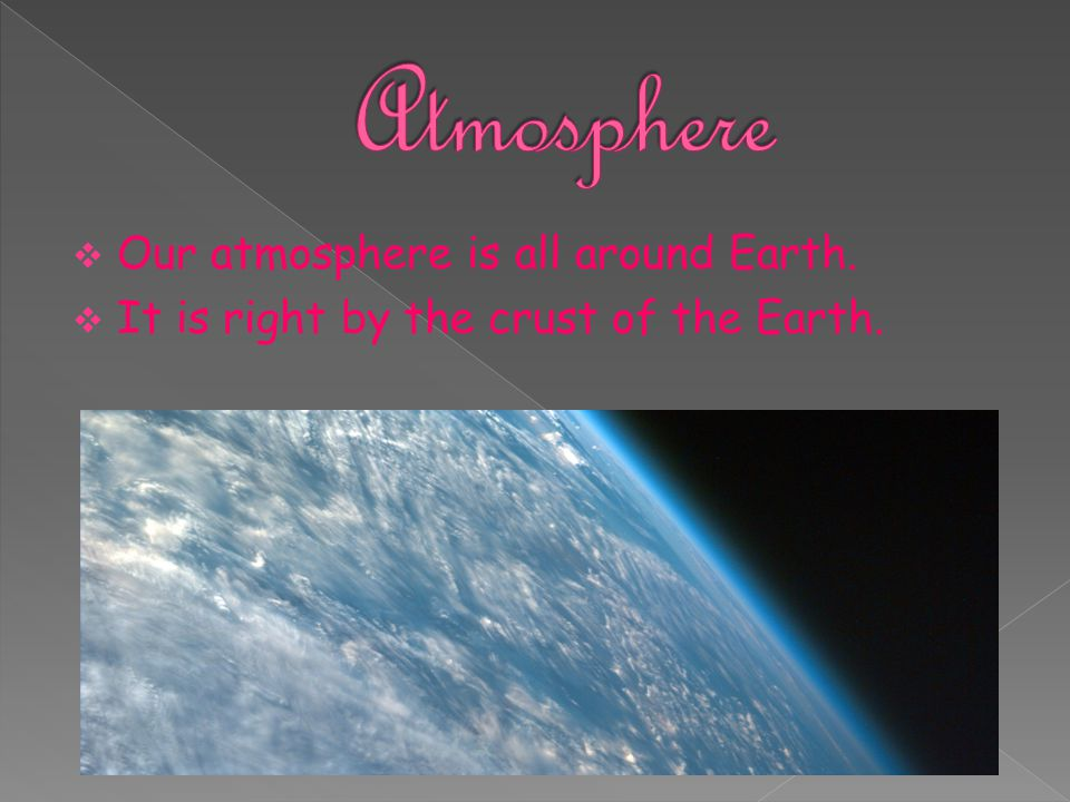 Atmosphere Our atmosphere is all around Earth.