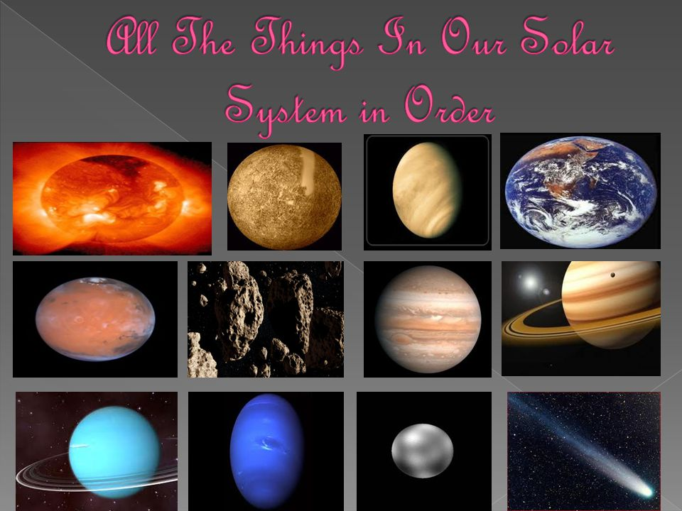 All The Things In Our Solar System in Order