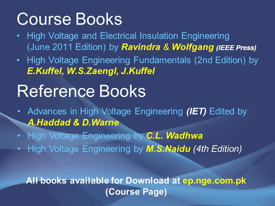 All books available for Download at ep.nge.com.pk (Course Page)