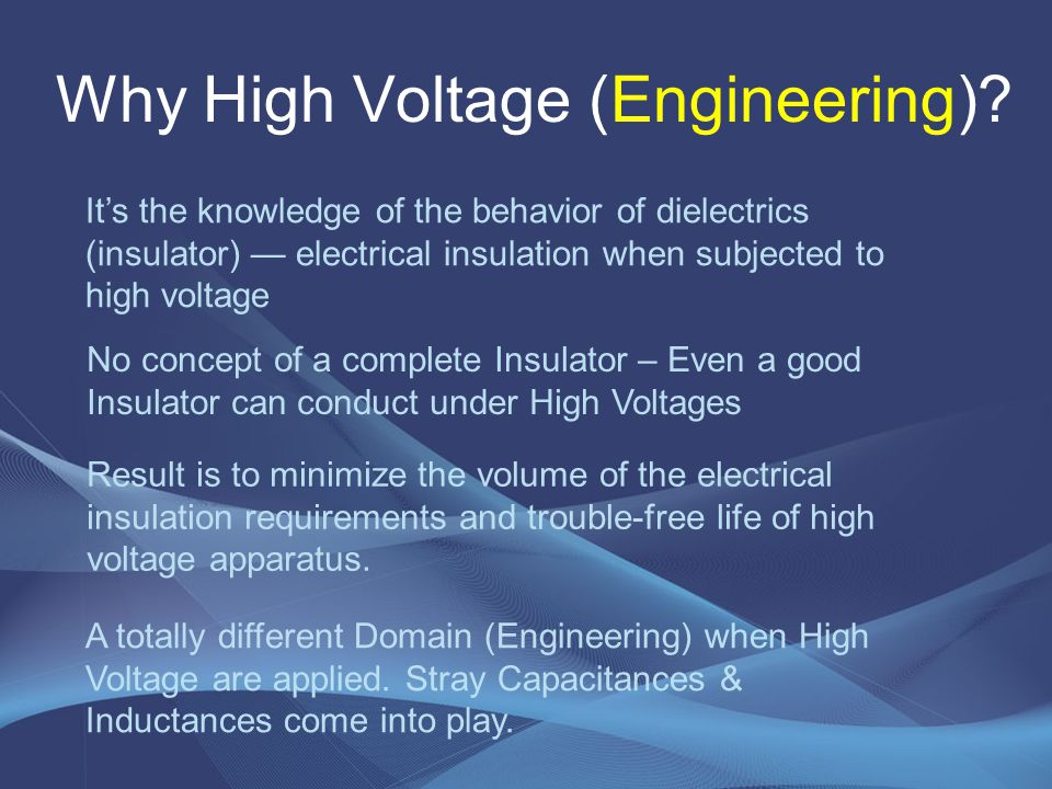 Why High Voltage (Engineering)