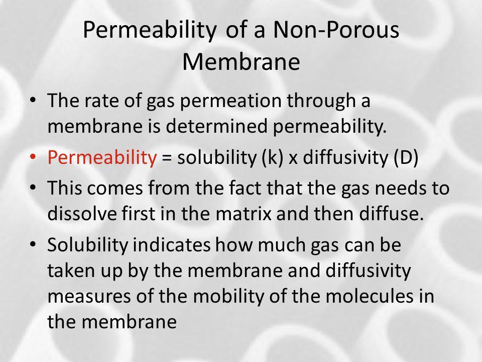 Permeability of a Non-Porous Membrane