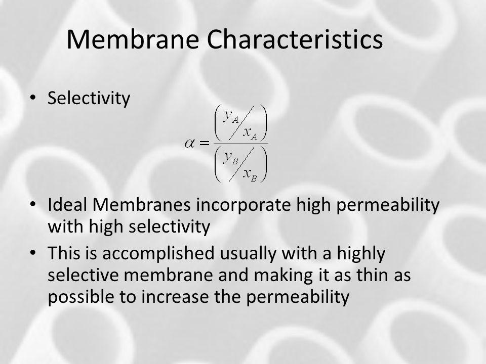Membrane Characteristics