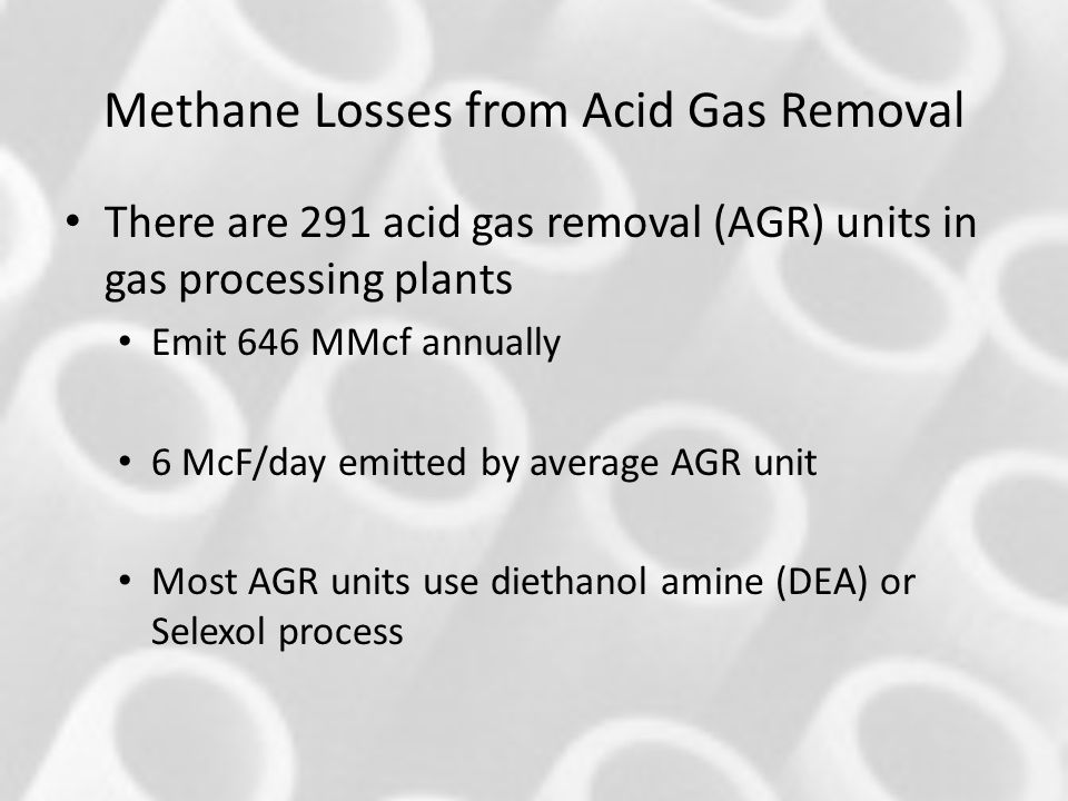 Methane Losses from Acid Gas Removal