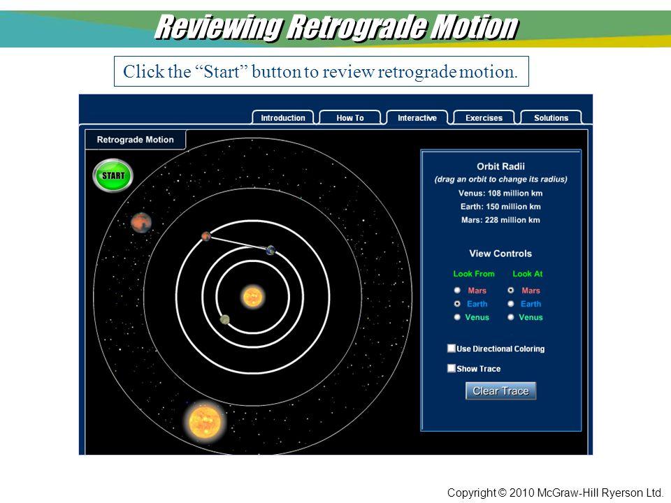 Reviewing Retrograde Motion