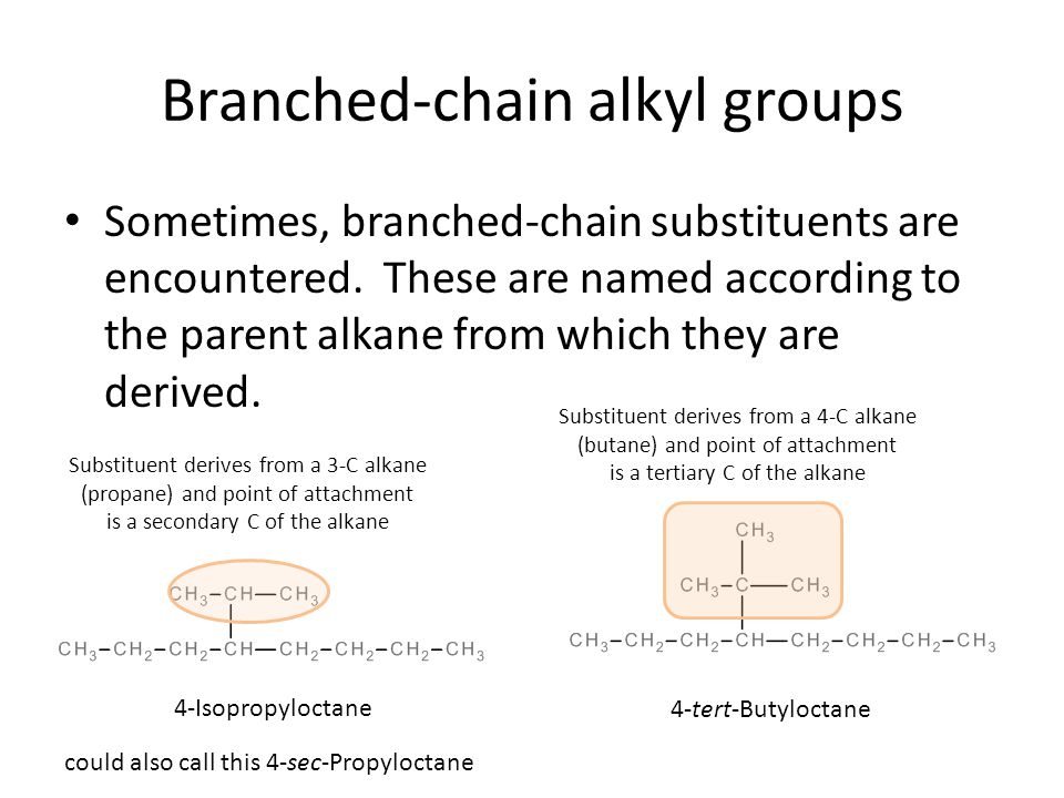 Branched-chain alkyl groups