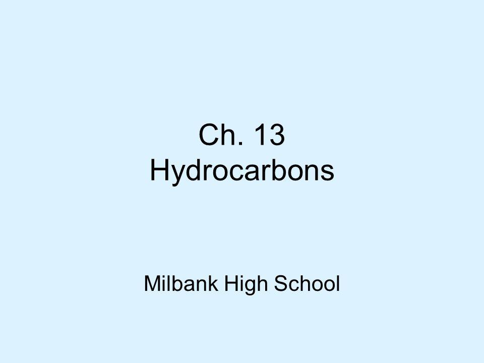 Ch. 13 Hydrocarbons Milbank High School
