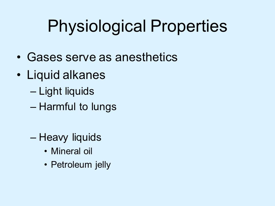 Physiological Properties