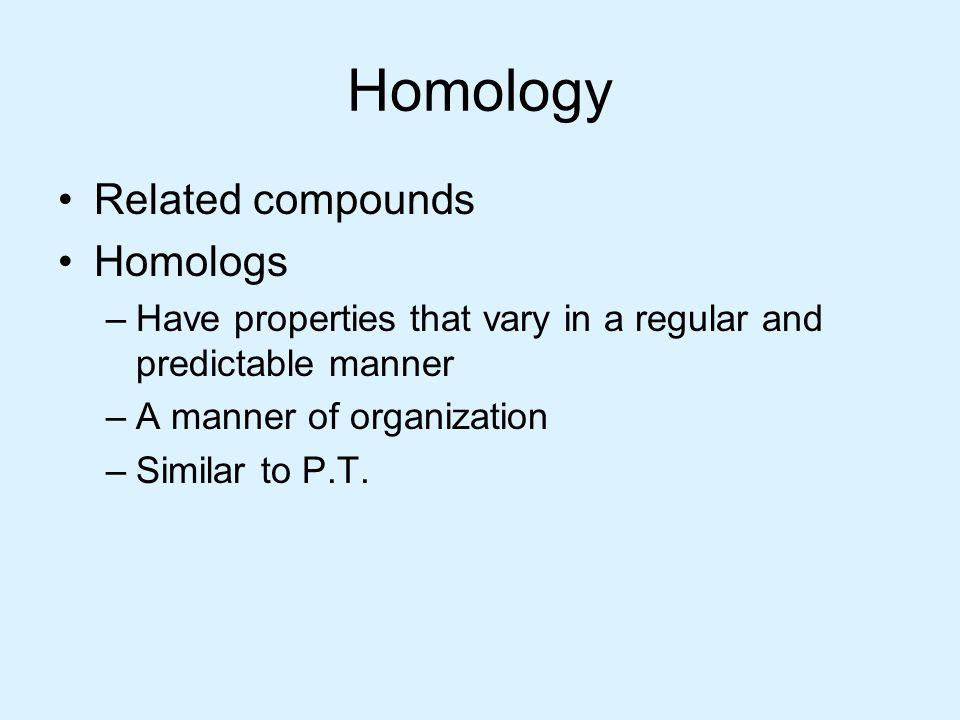 Homology Related compounds Homologs