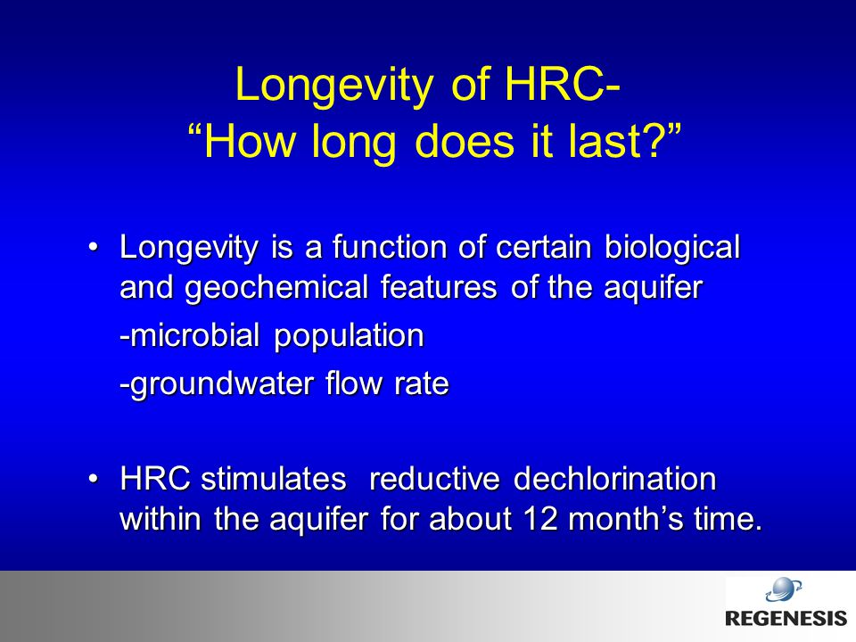 Longevity of HRC- How long does it last