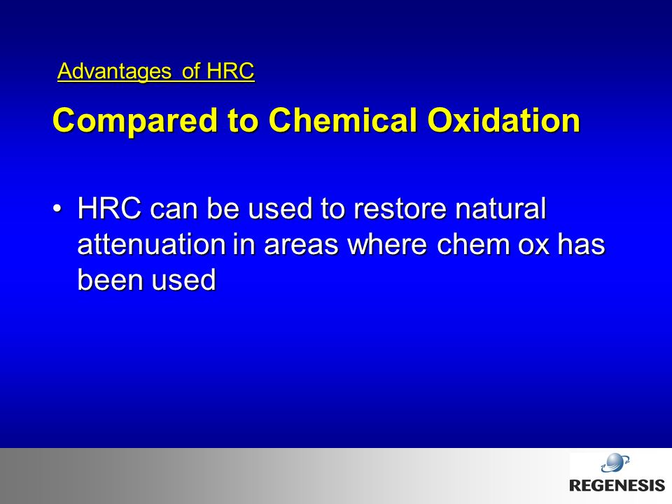Compared to Chemical Oxidation