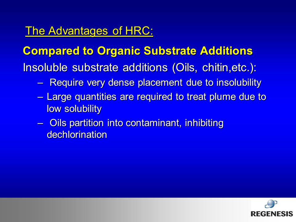 Compared to Organic Substrate Additions