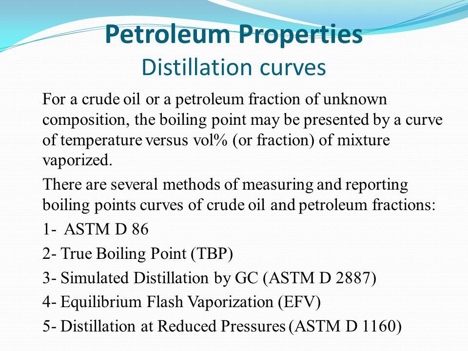 Petroleum Properties Distillation curves
