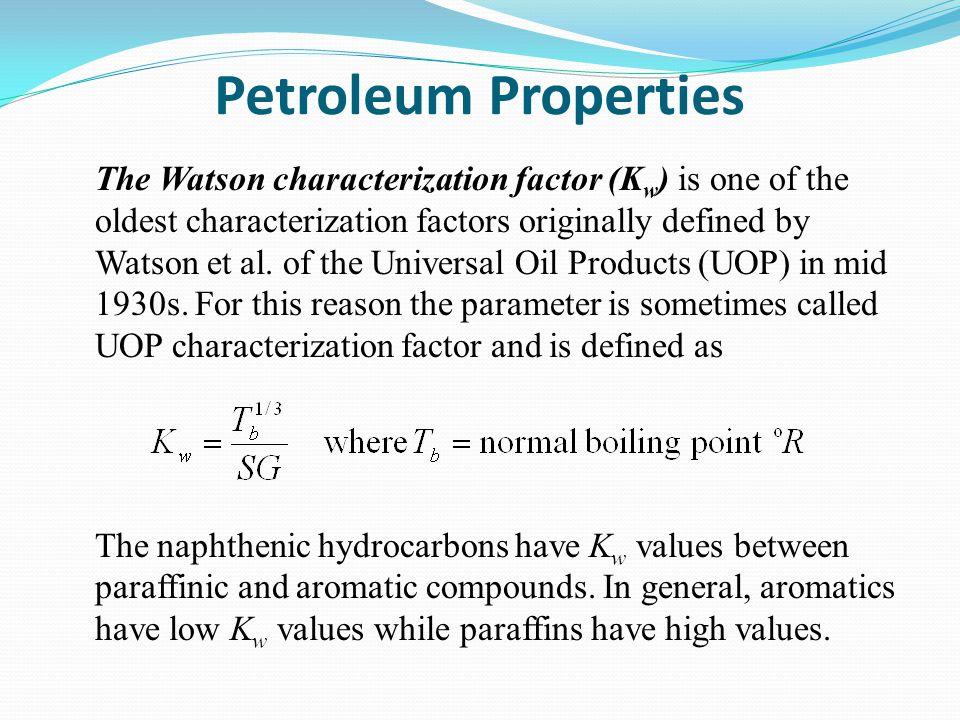 Petroleum Properties