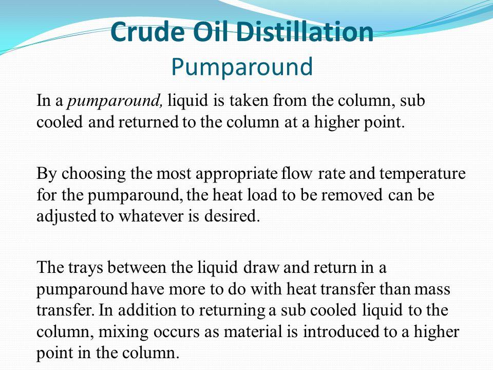 Crude Oil Distillation Pumparound