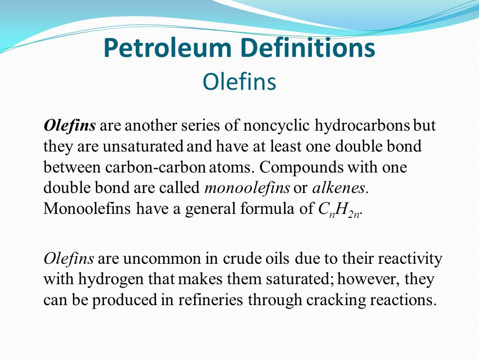 Petroleum Definitions Olefins