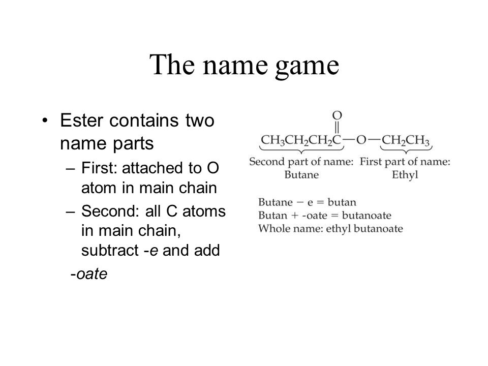 The name game Ester contains two name parts