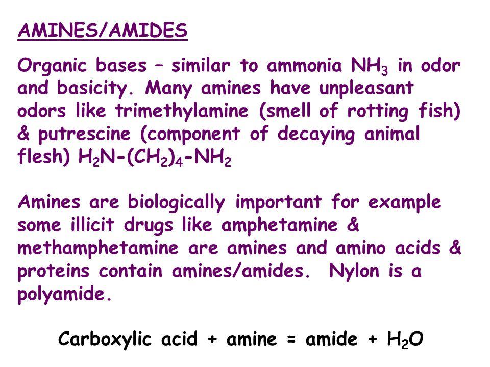 Carboxylic acid + amine = amide + H2O
