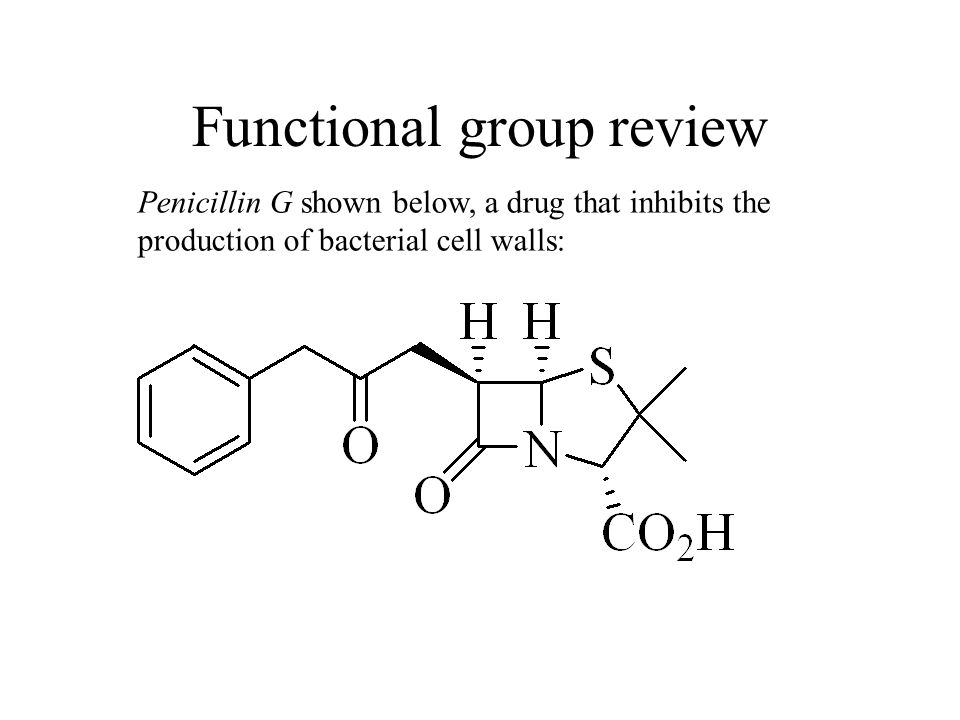 Functional group review