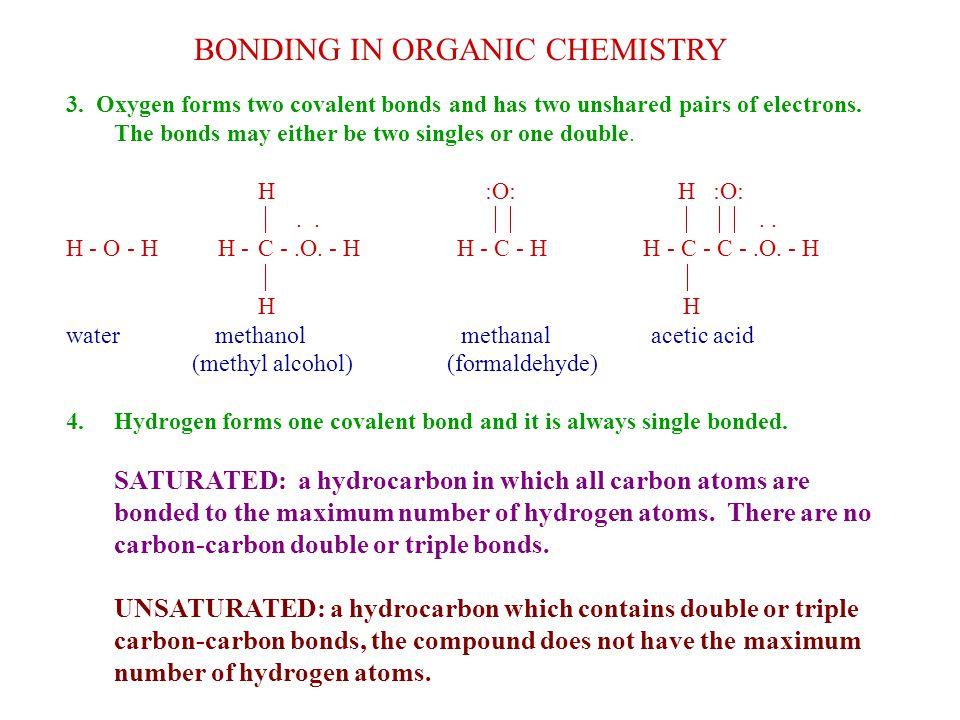BONDING IN ORGANIC CHEMISTRY