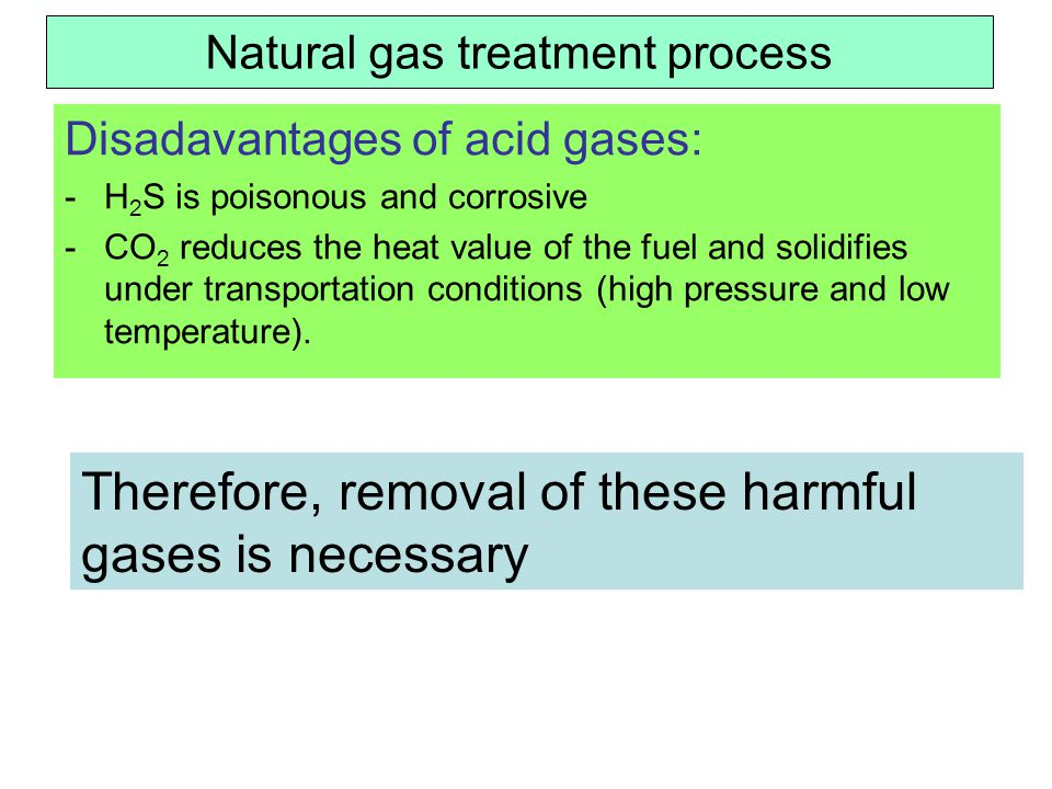 Natural gas treatment process