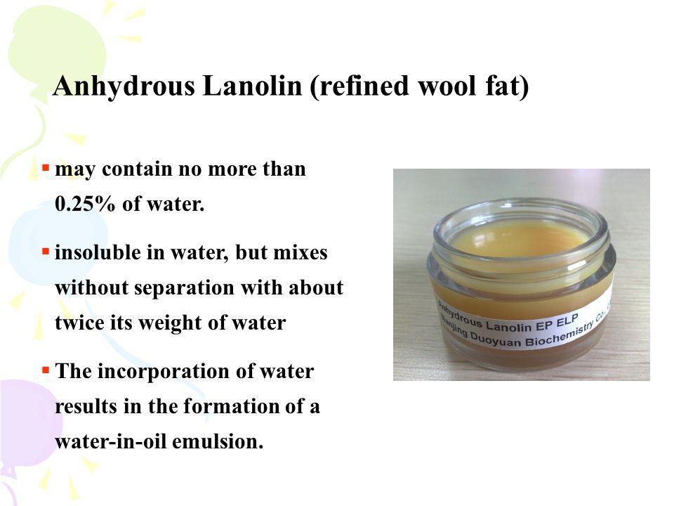 Anhydrous Lanolin (refined wool fat)