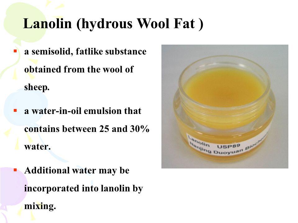 Lanolin (hydrous Wool Fat )