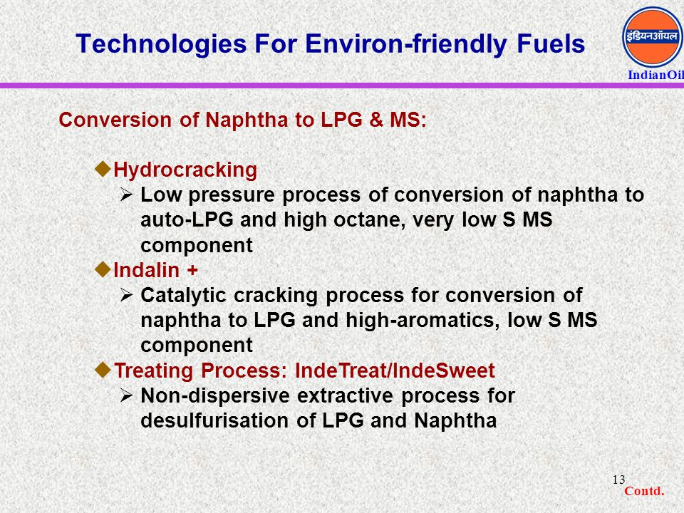 Technologies For Environ-friendly Fuels
